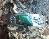 Just Reduced Vintage Handmade Native American Sterling Royston Turquoise Cuff Bracelet