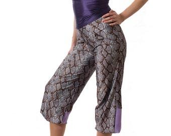 Wide-leg pants, harem oants, tango practice pants, tango pants, knee-length pants, capri pants