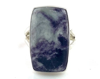Kammererite Sterling Silver Rectangular Ring