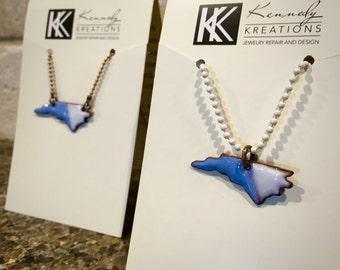 Blue and White North Carolina Necklace