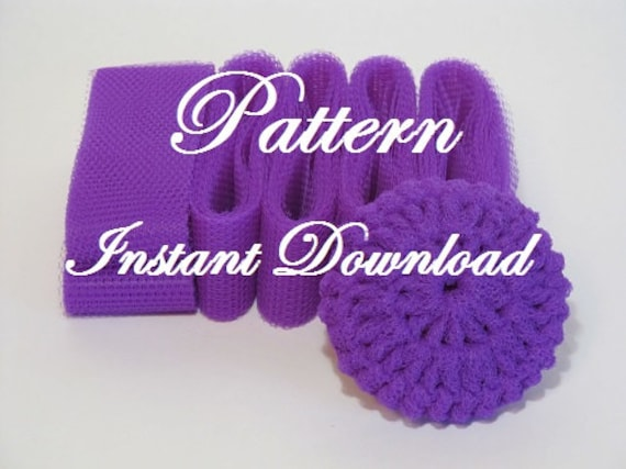 Scrubbie Pattern For Crocheted Nylon Netting Dish Scrubbies Etsy