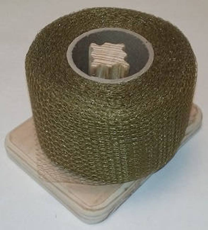 Nylon Net 2 Inch Strips Antique Gold 40 Yards Long Scrubbie Supplies