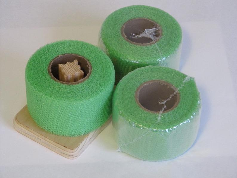 40 Yards Long 2 Inch Strip Nylon Net Spool Lime Green