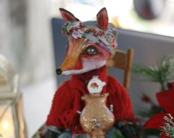 Textile Fox author's toy