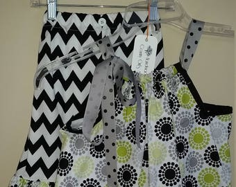 Pillowcase dress and pant set