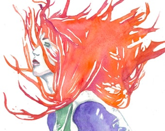 "Fine Art Giclee Watercolor Print ""Clearly Clary"""
