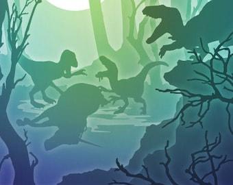 TASTE THE RAINBOW, Paper Cut Light Box Template, Cricut Pattern, Digital Downloads, Unicorn, Dinosaurs, Velociraptor, Oddity Curiosity