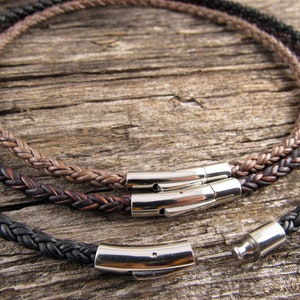 Leather Braided Necklace Item 1194n 5mm Leather Braided Bolo Cord Necklace Natural Leather Necklace