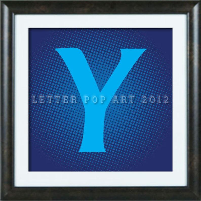 Alphabet Pop Art Print Using Barclays Bank Logo Letter Y