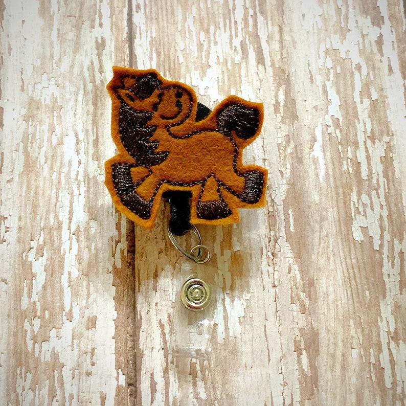 FREE SHIPPING Horse Feltie Badge Reel Holder interchangable