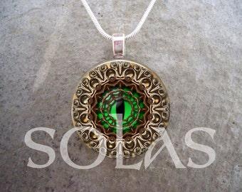 Steampunk Necklace - Glass Pendant Jewelry - Steampunk 1-7