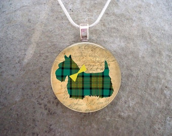 Celtic Jewelry - Dog Jewellery - Glass Pendant Necklace