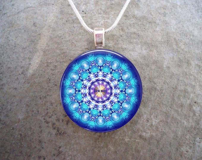 Mandala Jewelry - Glass Pendant Necklace - Mandala 48