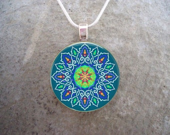 Celtic Jewelry - Glass Pendant Necklace -  - Free Shipping - sku CELTIC41