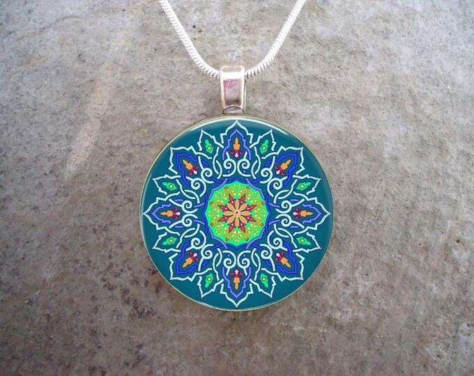 Celtic Jewelry - Glass Pendant Necklace - Celtic Decoration 41