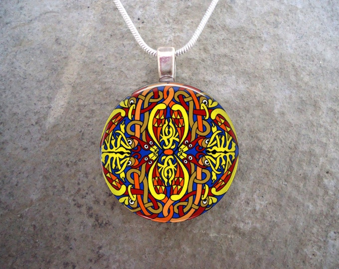 Celtic Jewelry - Glass Pendant Necklace - Celtic Decoration 13