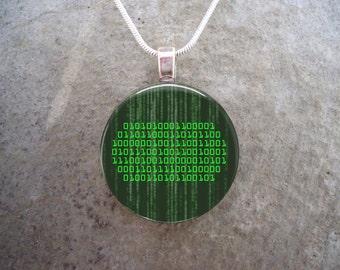 Talk Nerdy To Me - Binary Jewelry - Glass Pendant Necklace