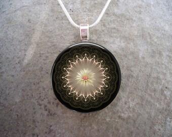 Mandala Jewelry - Glass Pendant Necklace - sku MANDALA41