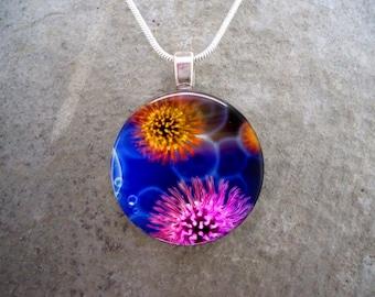 Virus Jewelry - 1 Inch Diameter Glass pendant Necklace - Memento, Keepsake, Science Gift - Free Shipping - sku VIRUS05