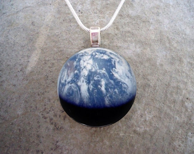 """Planet Earth Jewelry - """"Earthrise"""" Image By NASA - Precious Globe - Gift for Nature Lover, Science Fans - Style EARTHRISE"""