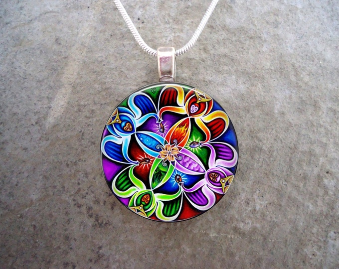 Celtic Jewelry - Glass Pendant Necklace - Celtic Decoration 20