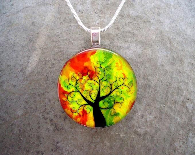 Tree Jewelry - Glass Pendant Necklace - Tree of Life Jewellery - tree 15