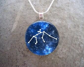 Aquarius Jewelry - Glass Pendant Necklace - Science Jewellery - Astronomy