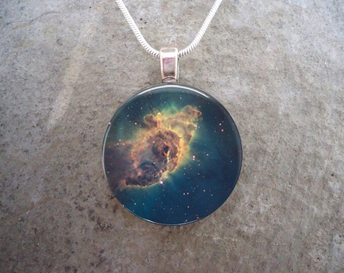 Carina Nebula Jewelry - Glass Pendant - Astronomy Necklace - Science - Free Shipping - Style ASTRO-CARINA