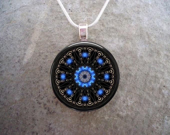 Mandala Jewelry - Glass Pendant Necklace - Mandala 47