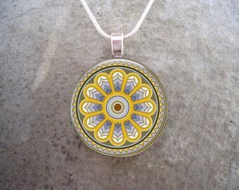 Celtic Jewelry - Glass Pendant Necklace - Free Shipping - sku CELTIC35