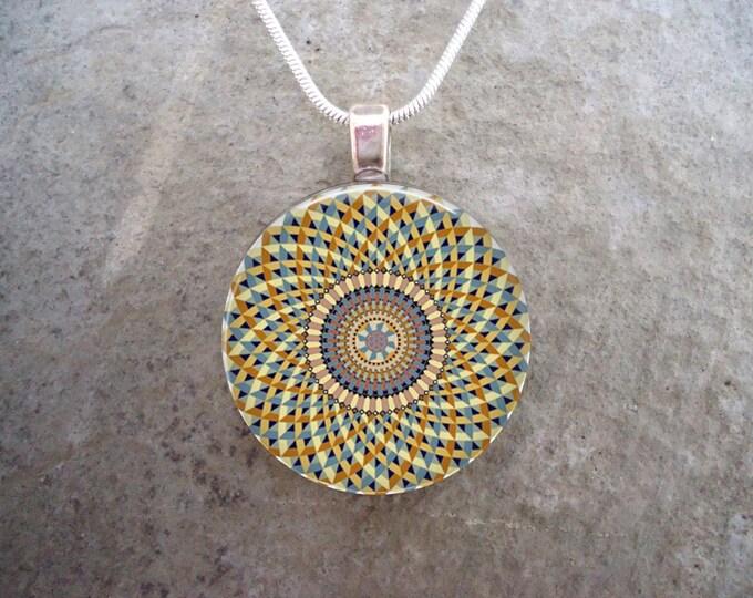 Celtic Jewelry - Glass Pendant Necklace - Celtic Decoration 39