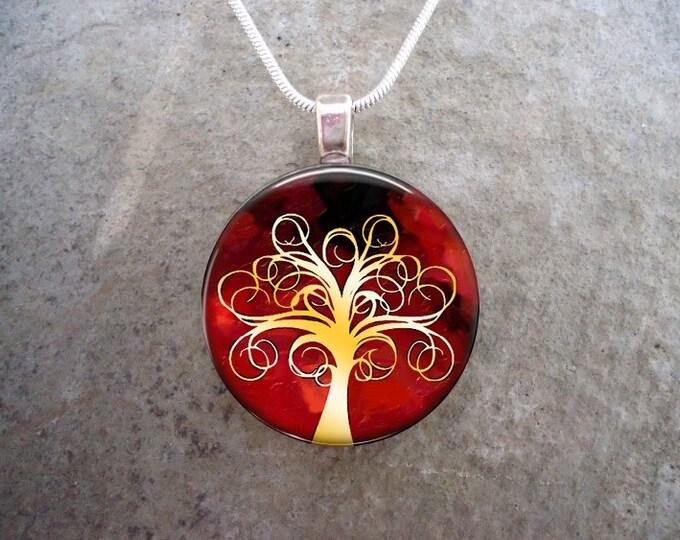 Tree Jewelry - Glass Pendant Necklace - Tree of Life Jewellery - Tree 1