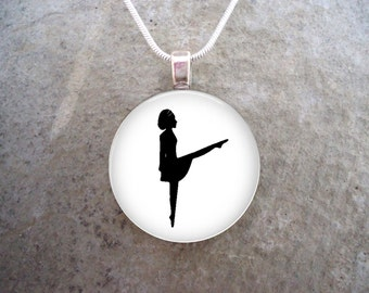 Irish Dance Jewelry - Glass Pendant Necklace - Lifts - Celtic Jewellery