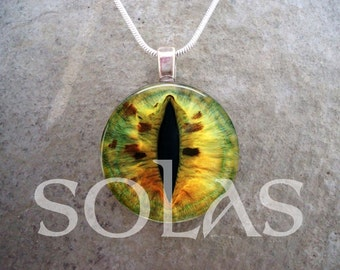 Dragon Eye Jewelry - Glass Pendant Necklace - Free Shipping - Style EYE30