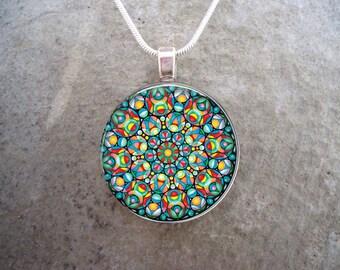 Celtic Jewelry - Glass Pendant Necklace - Free Shipping - sku CELTIC26
