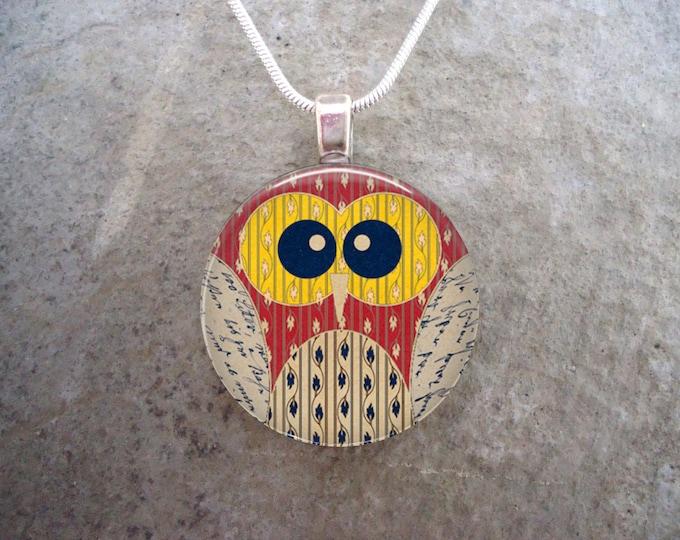 Owl Jewelry - Glass Pendant Necklace - Owl 7