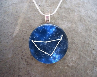 Capricorn Jewelry - Glass Picture Pendant Necklace - Astronomy Gift for Science Teachers