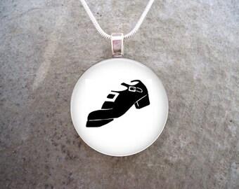 Irish Dance Jewelry - Hard Shoe for Jigs - Gift for Dancers, Men, Women, Boys or Girls - Keychain Available - Free Shipping - sku DANCE-HARD