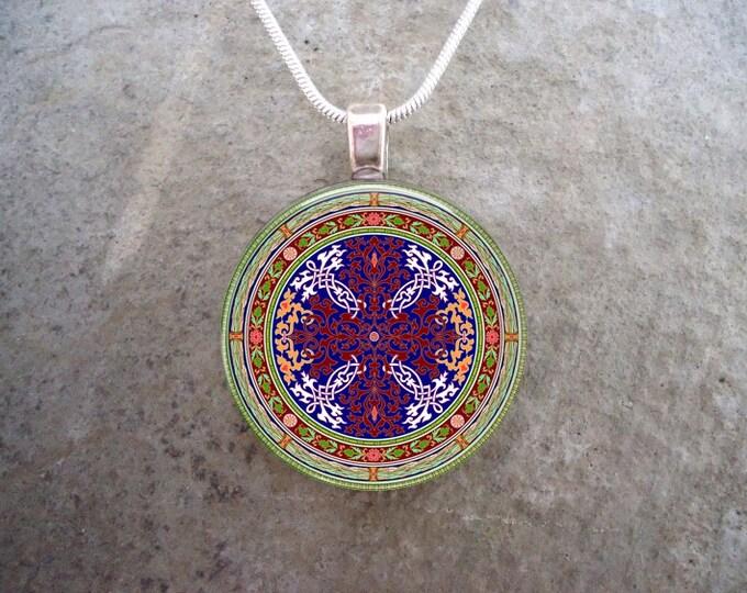 Celtic Jewelry - Glass Pendant Necklace - Celtic Decoration 21