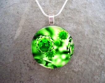 Virus Jewelry - Glass Pendant Necklace - Science Jewellery - Virus 15