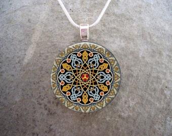 Celtic Jewelry - Glass Pendant Necklace - Free Shipping - sku CELTIC33