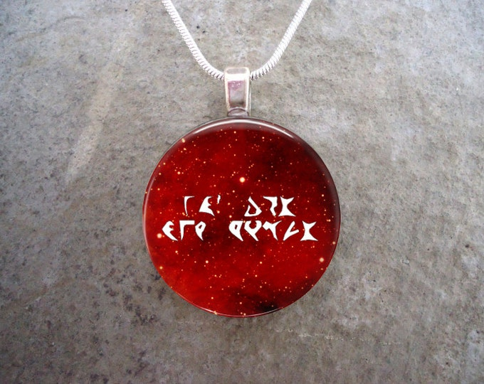 Klingon Jewelry - Glass Pendant Necklace - Star Trek - Focus On But One Target