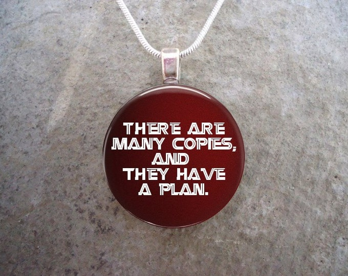 There are many copies and they have a plan - Battlestar Galactica - 1 Inch Domed Glass Pendant Necklace - Free Shipping - Style BSG-COPIES