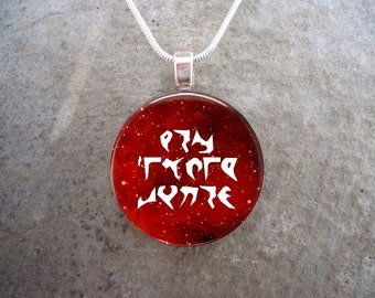 Klingon Jewelry - Glass Pendant Necklace - Star Trek - Capture All Opportunities