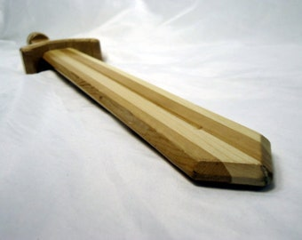 Handmade Wooden Gamer Inspired Sword - Perfect for Cosplay, LARP, Medieval Faires, Gaming