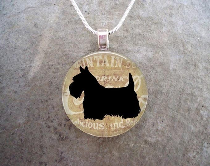 Celtic Jewelry - Dog Jewellery - Glass Pendant Necklace - Free Shipping - Style SCOTTIE20