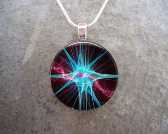Microscopic Image Jewelry - Neuron Cell Diagram - Fun & Affordable Science Gifts for Students, Teachers - Free Shipping - Style CELL03