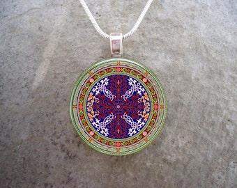 Celtic Jewelry - Glass Pendant Necklace  - Free Shipping - sku CELTIC21