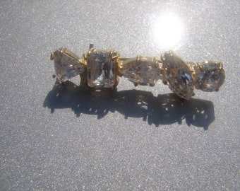 Gold Over Sterling 925 CZ Brooch 763.
