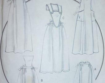 Butterick HISTORY Apons Pattern 5509  Misses' Sizes  XY (Sml-Med-Lrg)